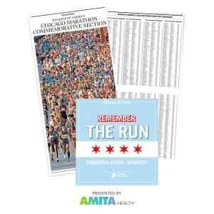 2021 Chicago Tribune Chicago Marathon Commemorative Results Package