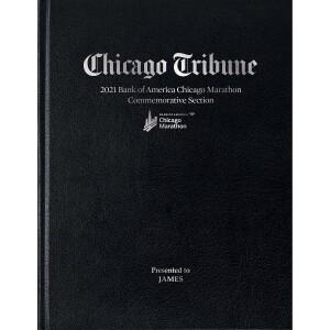 2021 Chicago Marathon Newspaper Book