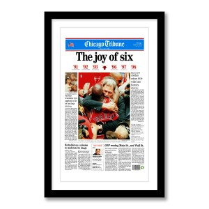 """The Joy of Six"" Chicago Bulls 6th Championship Poster"