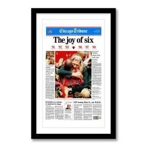 """The Joy of Six"" Chicago Bulls 6th Championship Poster"