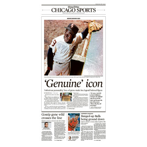 'Genuine' Icon Minnie Minoso Sports Front Page Poster