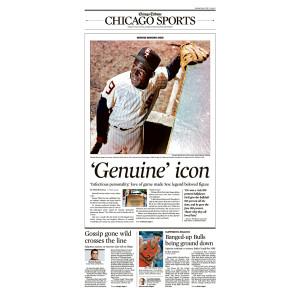 'Genuine' Icon Minnie Minoso Sports Front Page Poster