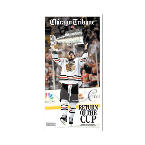 Chicago Blackhawks Return of the Cup Front Page Poster