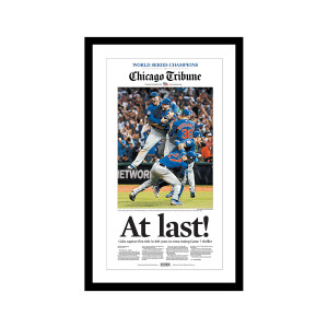 Chicago Tribune Cubs World Series Champions Front Page Poster