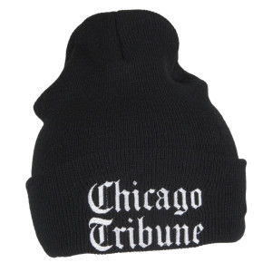 Chicago Tribune Black Knit Beanie