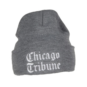 Chicago Tribune Grey Knit Beanie