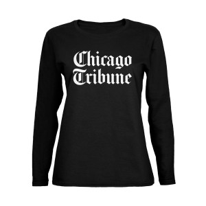 Chicago Tribune Stacked Logo Black Women's Soft Long Sleeve T-Shirt
