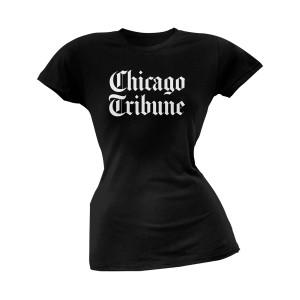 Chicago Tribune Stacked Logo Black Women's Soft T-Shirt