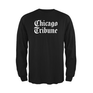 Chicago Tribune Black Long Sleeve Shirt