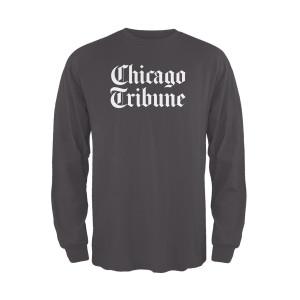 Chicago Tribune Stacked Logo Dark Grey Unisex Adult Long Sleeve T-Shirt