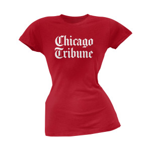 Chicago Tribune Women's Red T-Shirt