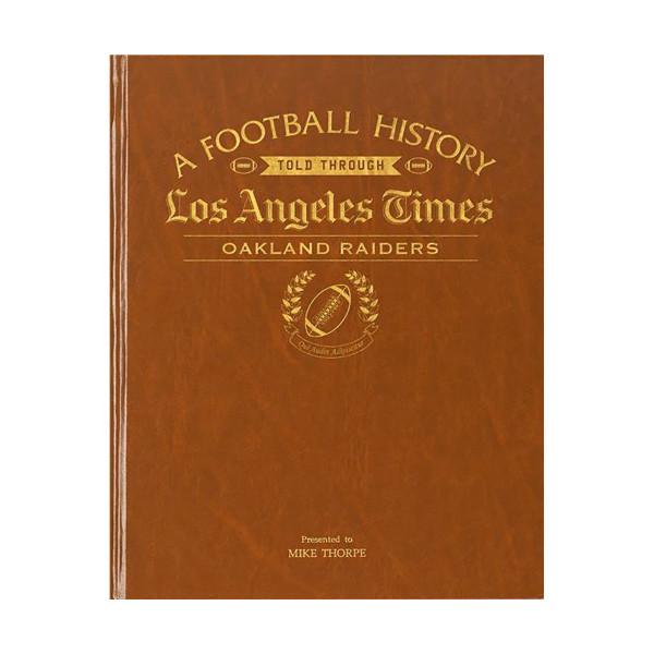 low priced 66a46 d13cc LA Times Oakland Raiders Newspaper Book | Shop the Los ...