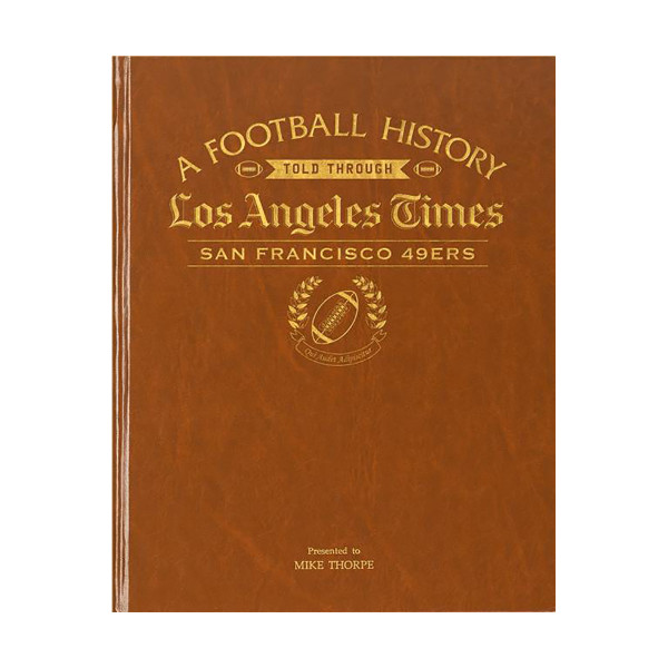 online store 08bf4 203e4 LA Times San Francisco 49ers Newspaper Book | Shop the ...