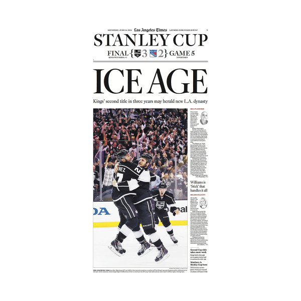 newest ec14c 63fd6 2014 LA Kings Stanley Cup Printing Plate (Ice Age Front Page)