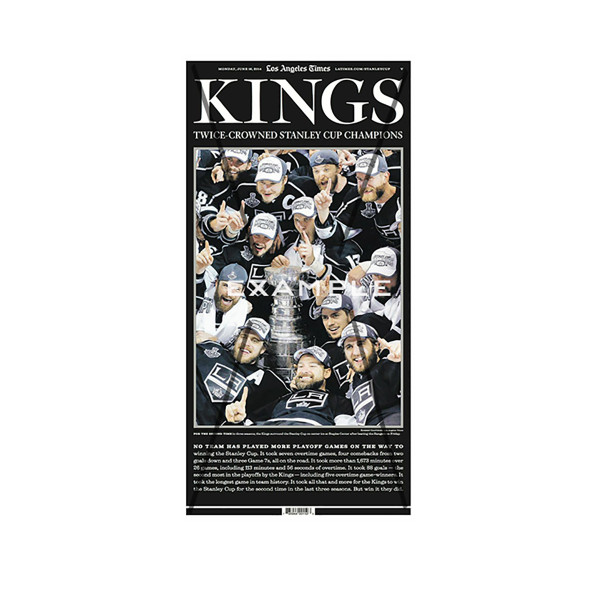 new product fbc81 66476 2014 L.A. Kings Stanley Cup Special Section Printing Plate ...