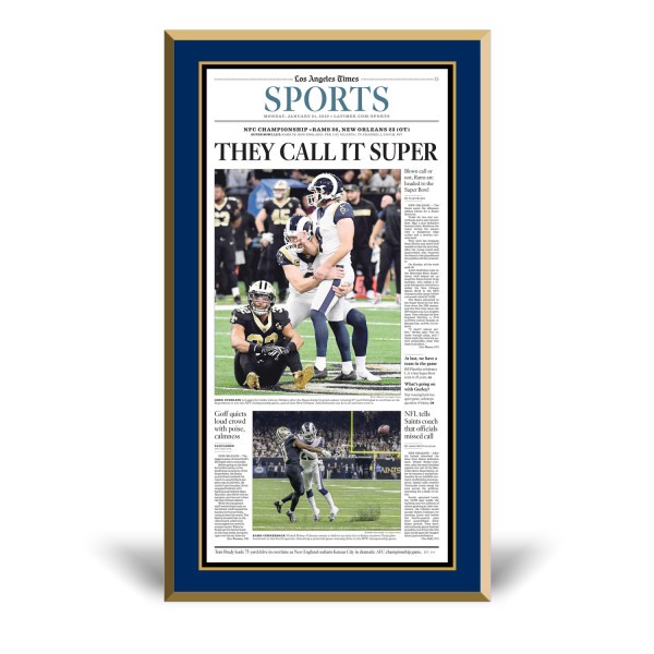 best service b2280 b44a5 Los Angeles Rams 2018 NFC Champions Sports Front Page ...