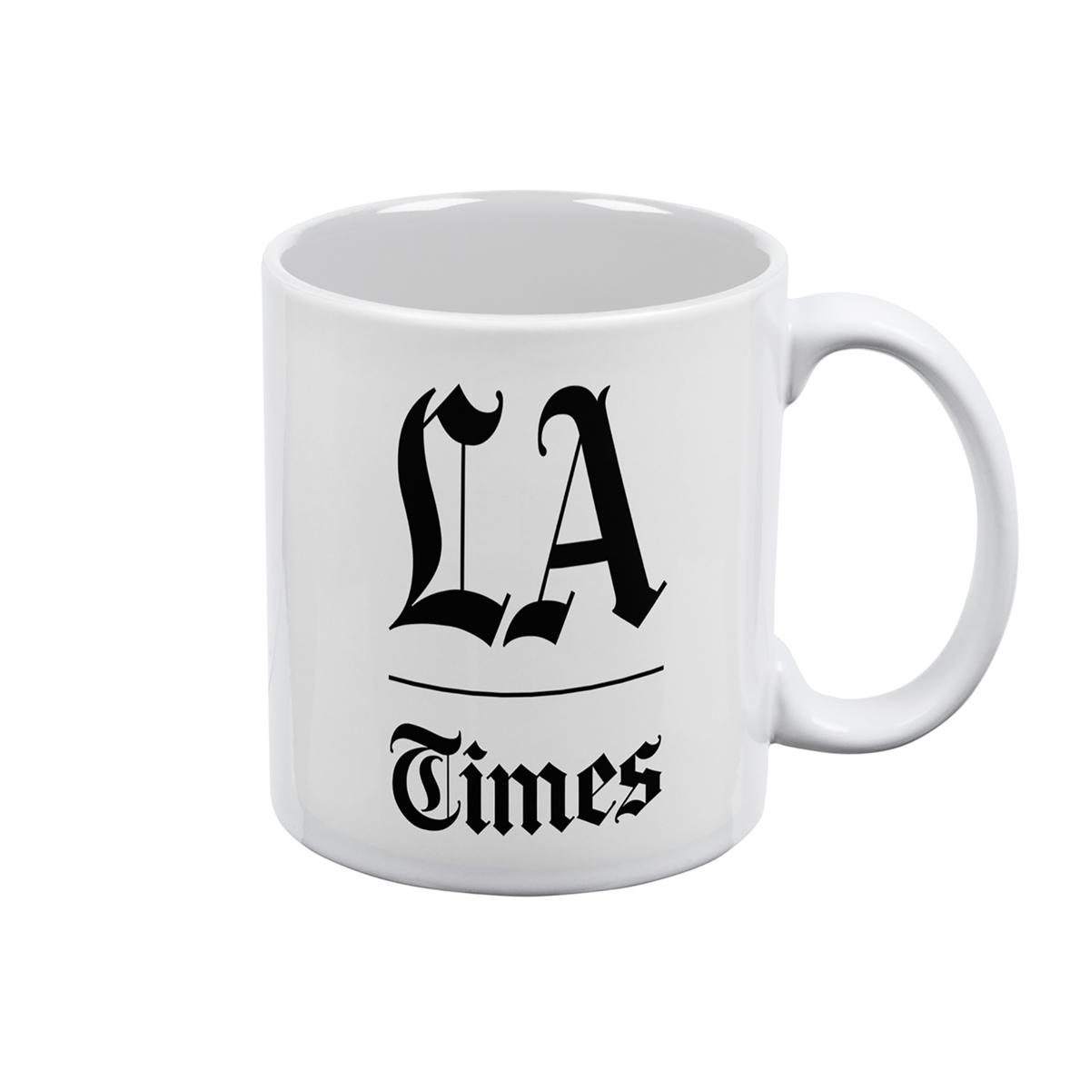 Los Angeles Times Stacked Logo White Mug