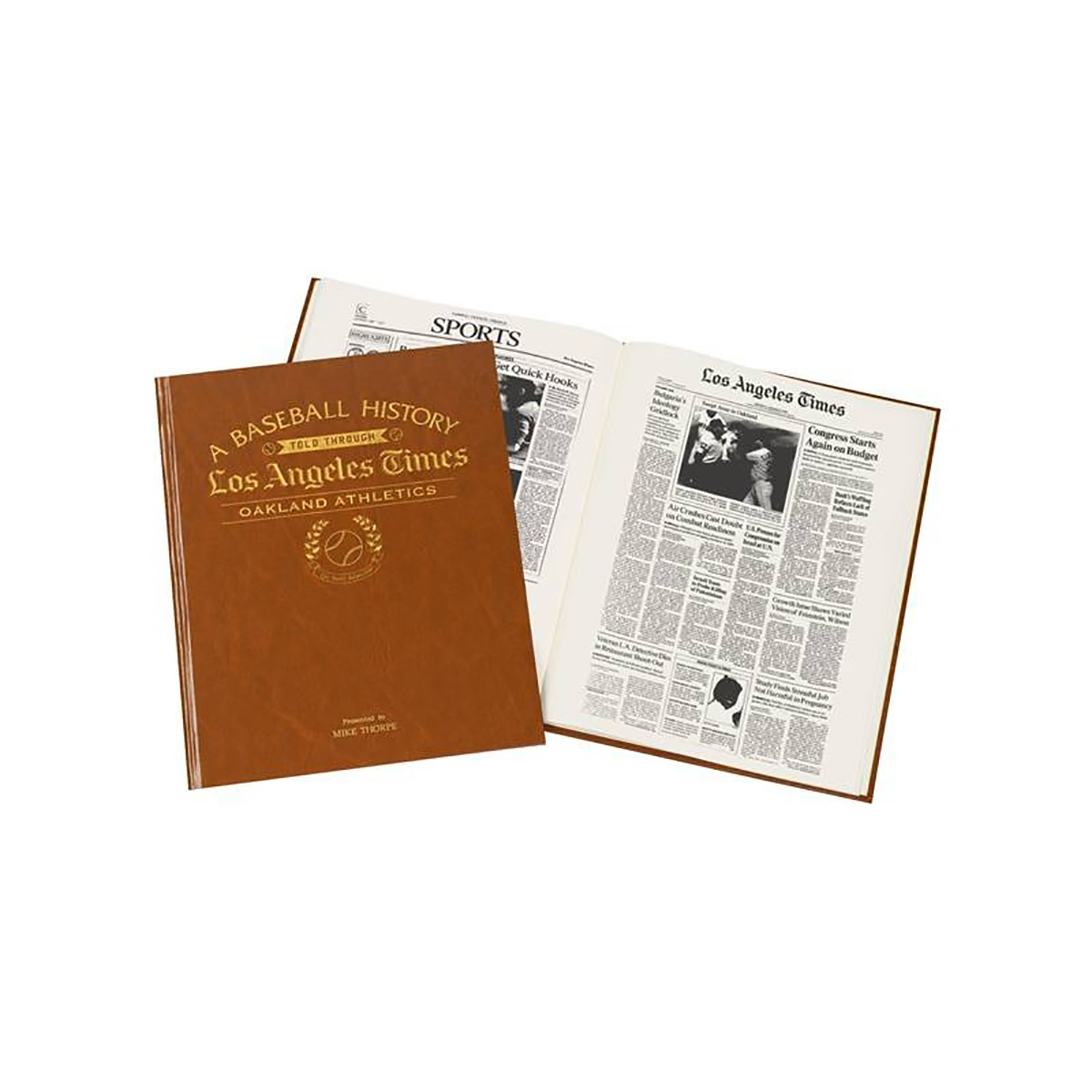 Los Angeles Times Oakland Athletics Newspaper Book