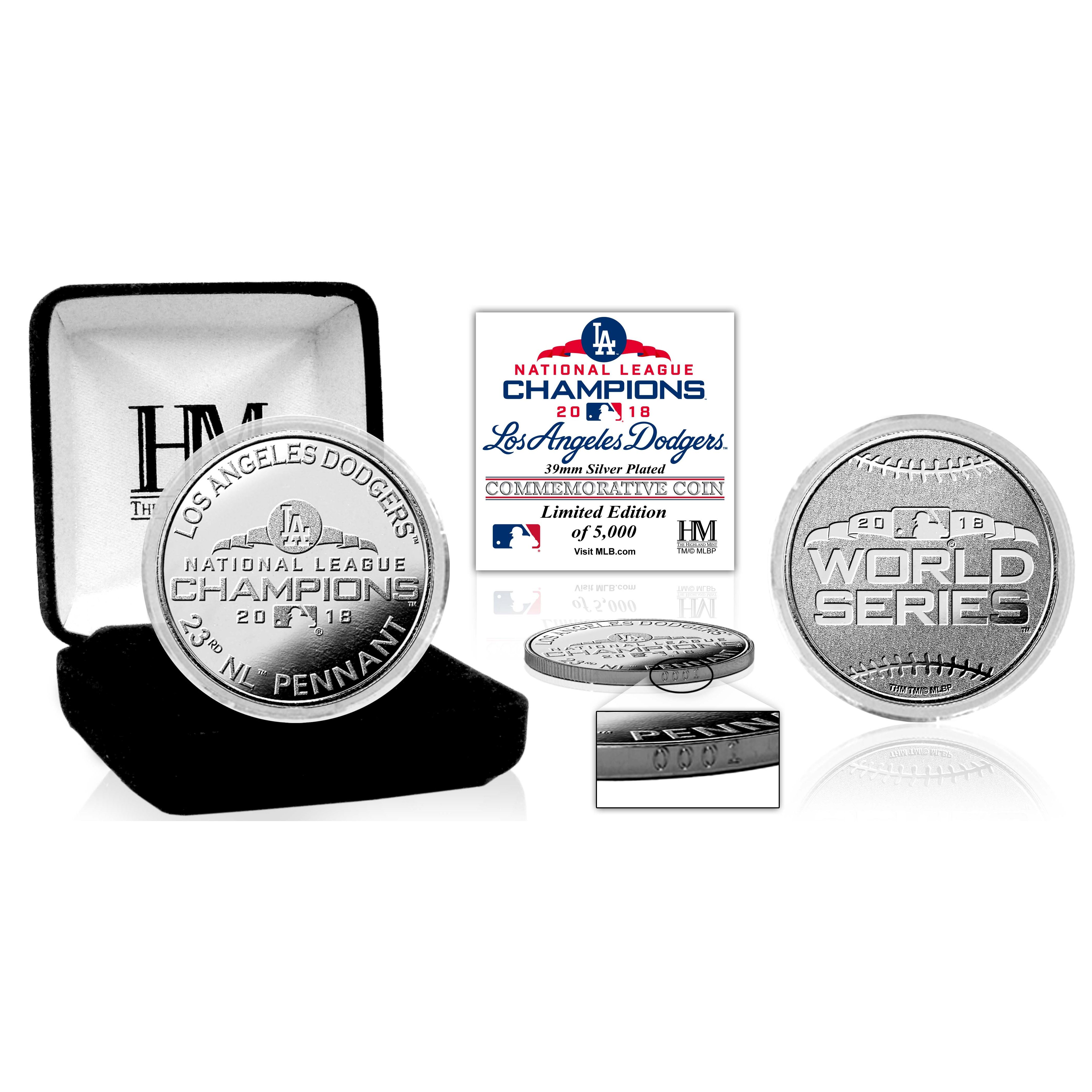 Los Angeles Dodgers 2018 NL Champions Silver Mint Coin