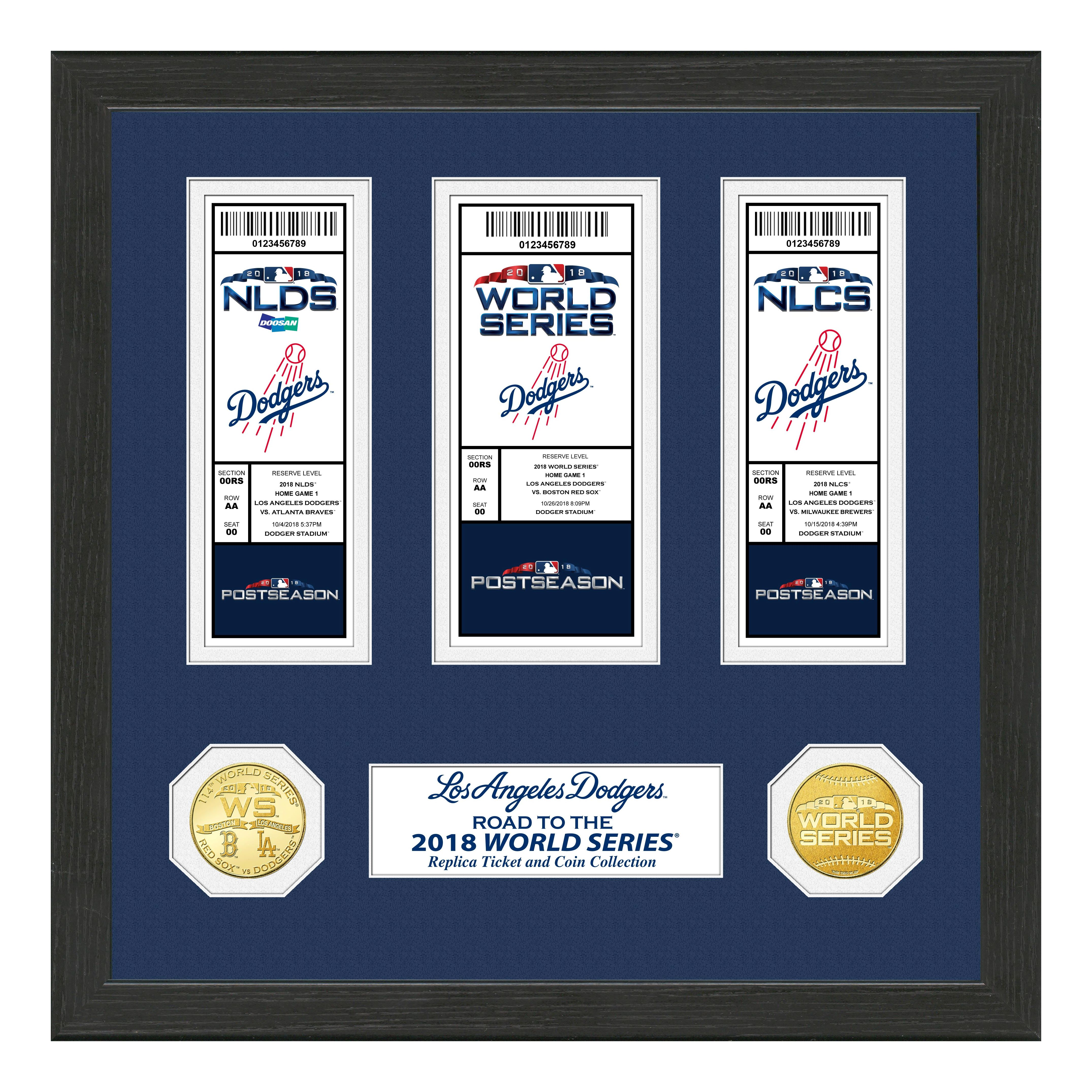 "Los Angeles Dodgers 2018 NL Champions ""Road to the World Series"" Deluxe Gold Coin & Ticket Collection"