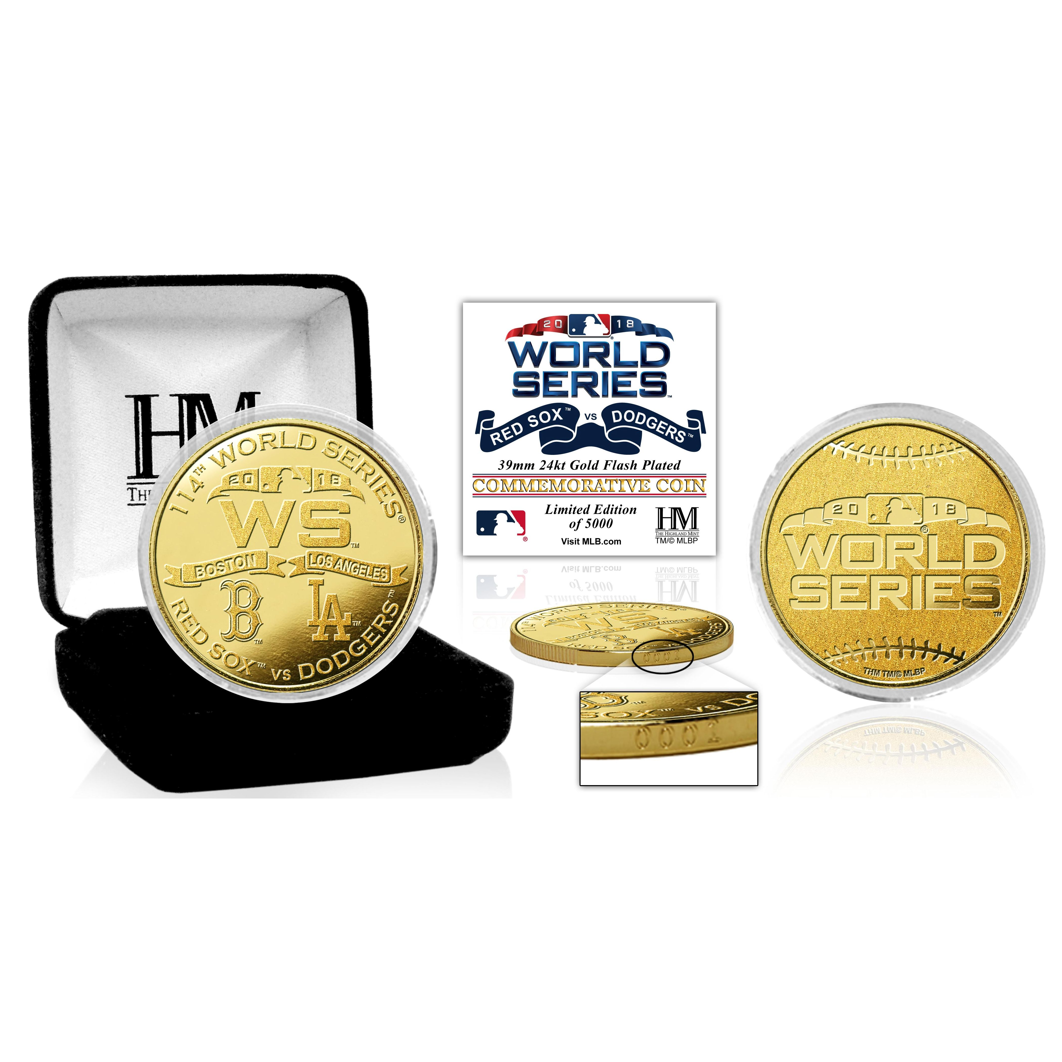 2018 World Series Dueling Gold Mint Coin (Red Sox vs. Dodgers)