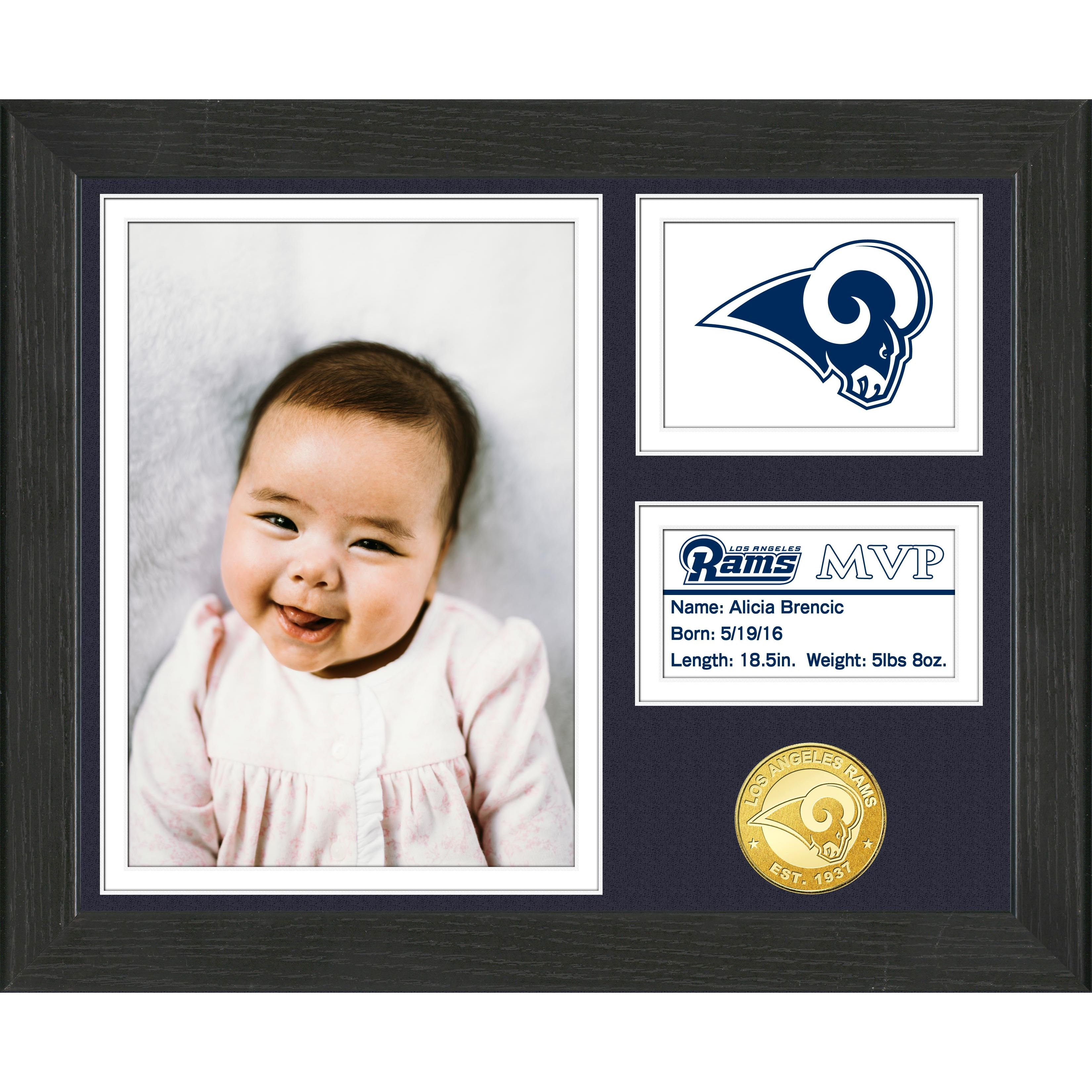 wholesale dealer 4cc96 24493 Los Angeles Rams Baby MVP Personalized Photo Frame ...