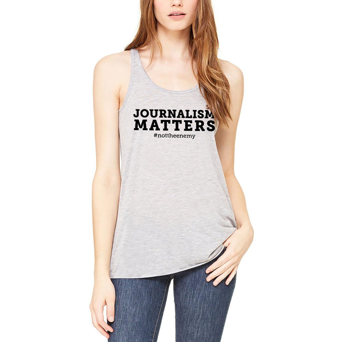 """Journalism Matters #nottheenemy"" Womens Tank"