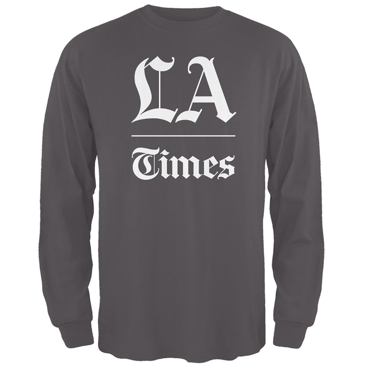 L.A. Times Stacked Logo Dark Grey Long Sleeve Shirt