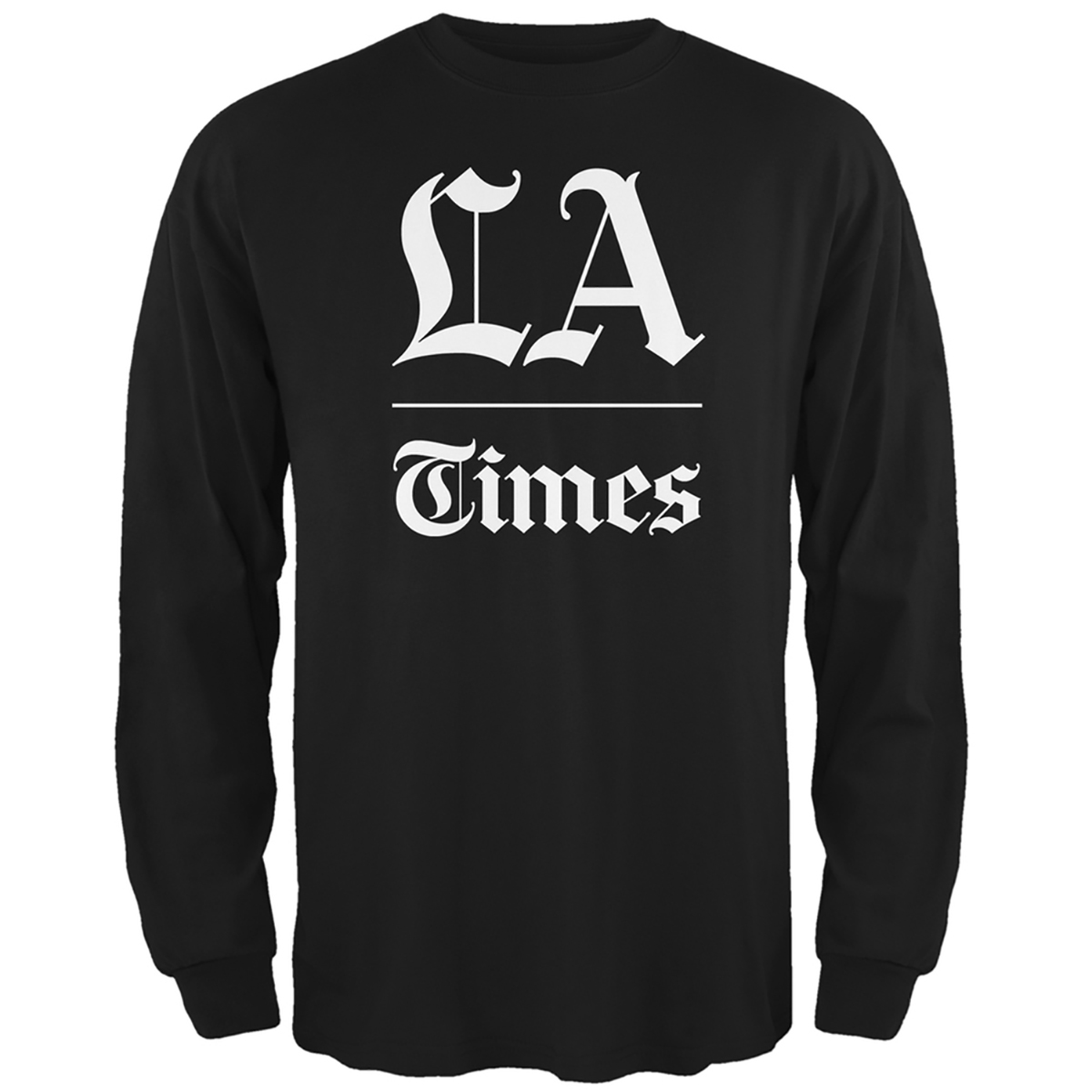 L.A. Times Stacked Logo Black Long Sleeve Shirt