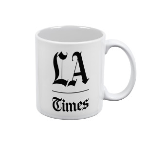 Los Angeles Times Stacked Logo White Mug