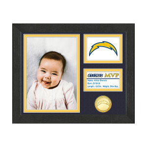 Los Angeles Chargers Baby MVP Personalized Photo Frame