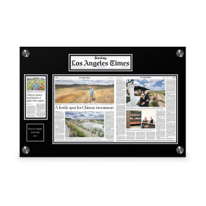 Los Angeles Times Custom Article Print Plaques
