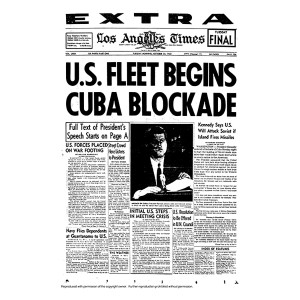 Historical Front Page - Cuba Blockade