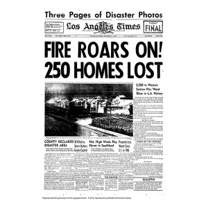 Historical Front Page - Fire Roars On