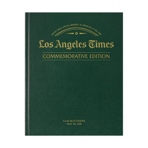 Los Angeles Times Commemorative Date Newspaper Book