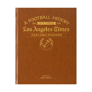 LA Times Oakland Raiders Newspaper Book