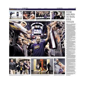 Kobe Bryant Last Game Commemorative Sports Page