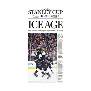 2014 L.A. Kings Stanley Cup Printing Plate (Ice Age Front Page)