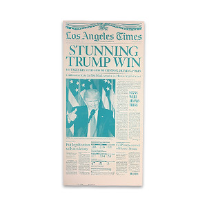 "2016 Presidential Election ""Stunning Trump Win"" Press Plate"