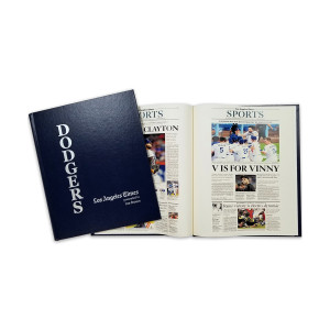 Los Angeles Dodgers Personalized Newspaper Book