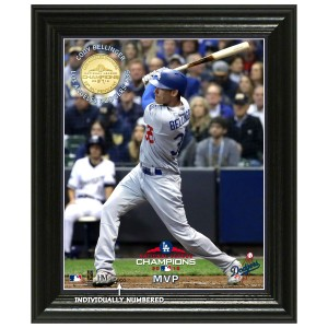 "Los Angeles Dodgers 2018 NL Champions ""MVP"" Elite Bronze Coin Photo Mint"
