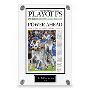 Los Angeles Dodgers NLCS Champions 2018 Front Page Plaque