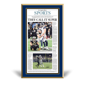 Los Angeles Rams 2018 NFC Champions Sports Front Page Plaque