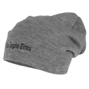 Los Angeles Times Standard Logo Grey Slouch Beanie