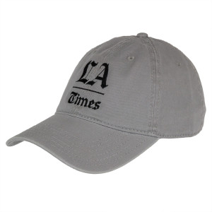 Los Angeles Times Stacked Logo Grey Adjustable Cap