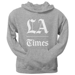 L.A. Times Stacked Logo Grey Hoodie