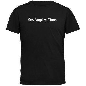 Los Angeles Times Black T-Shirt