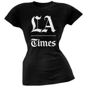 LA Times Stacked Logo Black Women's T-Shirt