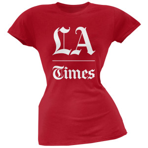 LA Times Stacked Logo Women's T-Shirt - Red