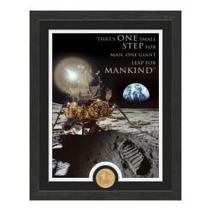 Apollo Moon Landing Quote Bronze Coin Photo Mint